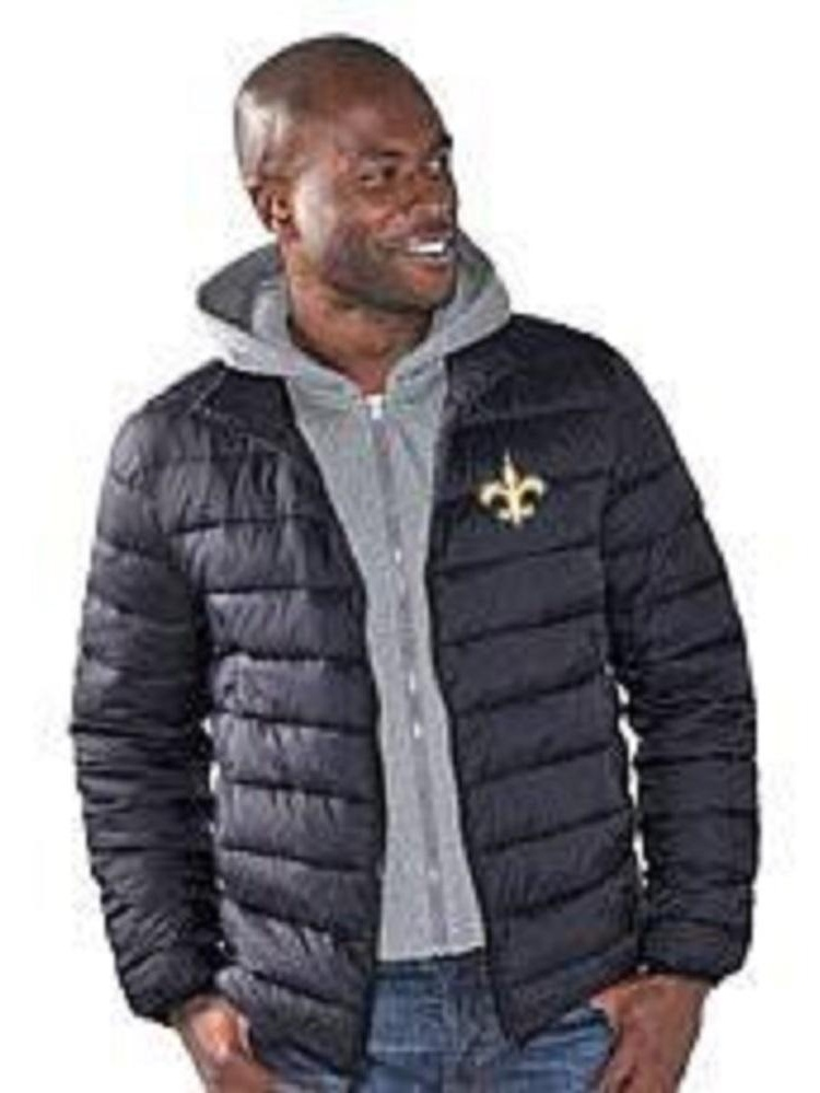 New Orleans Saints Three Point Quilted Jacket by G-III Sports