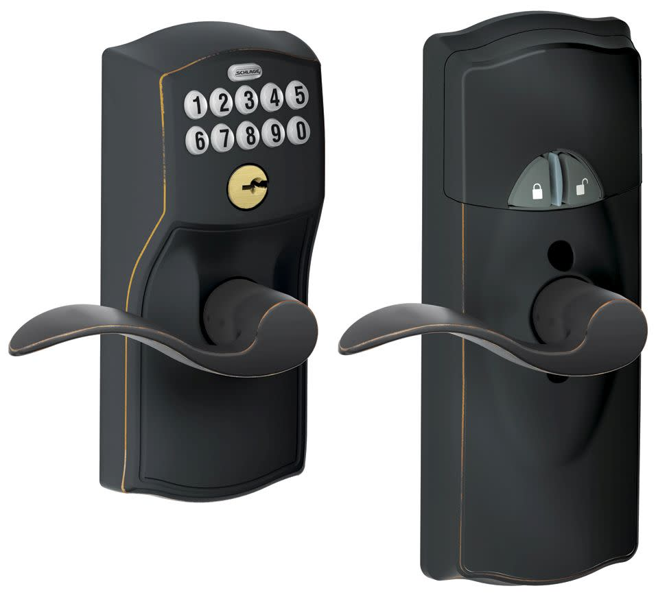 Schlage FE599NXCAM-ACC Home Keypad Lever with Z-Wave Technology