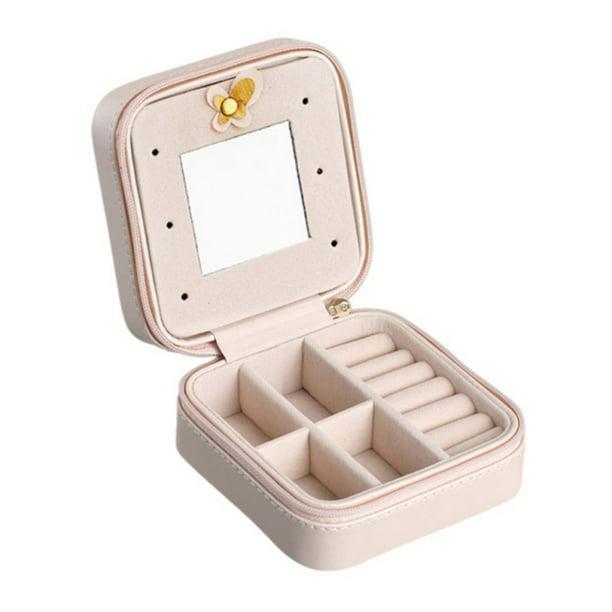 Jewelry Box Necklace Storage Organizer Travel PU Leather Trinkets Case Gift