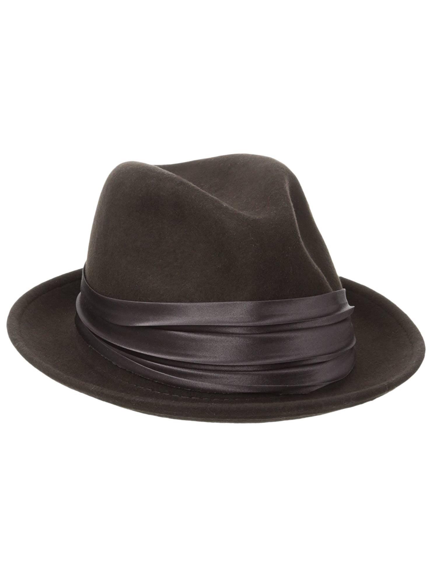 1ea2ff40aa8 Stacy Adams Men s Crushable Wool Felt Snap Brim Fedora Hat ...