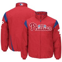 Philadelphia Phillies Majestic On-Field Therma Base Thermal Full-Zip Jacket - Red