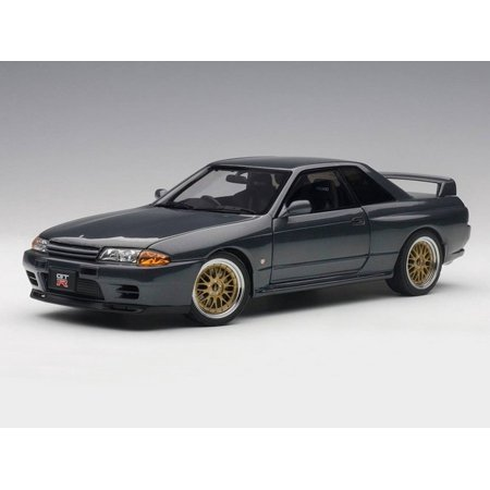 Nissan Skyline GT-R (R32) V-Spec II Tuned Version Gun Grey Metallic 1/18 Diecast Model Car  by Autoart