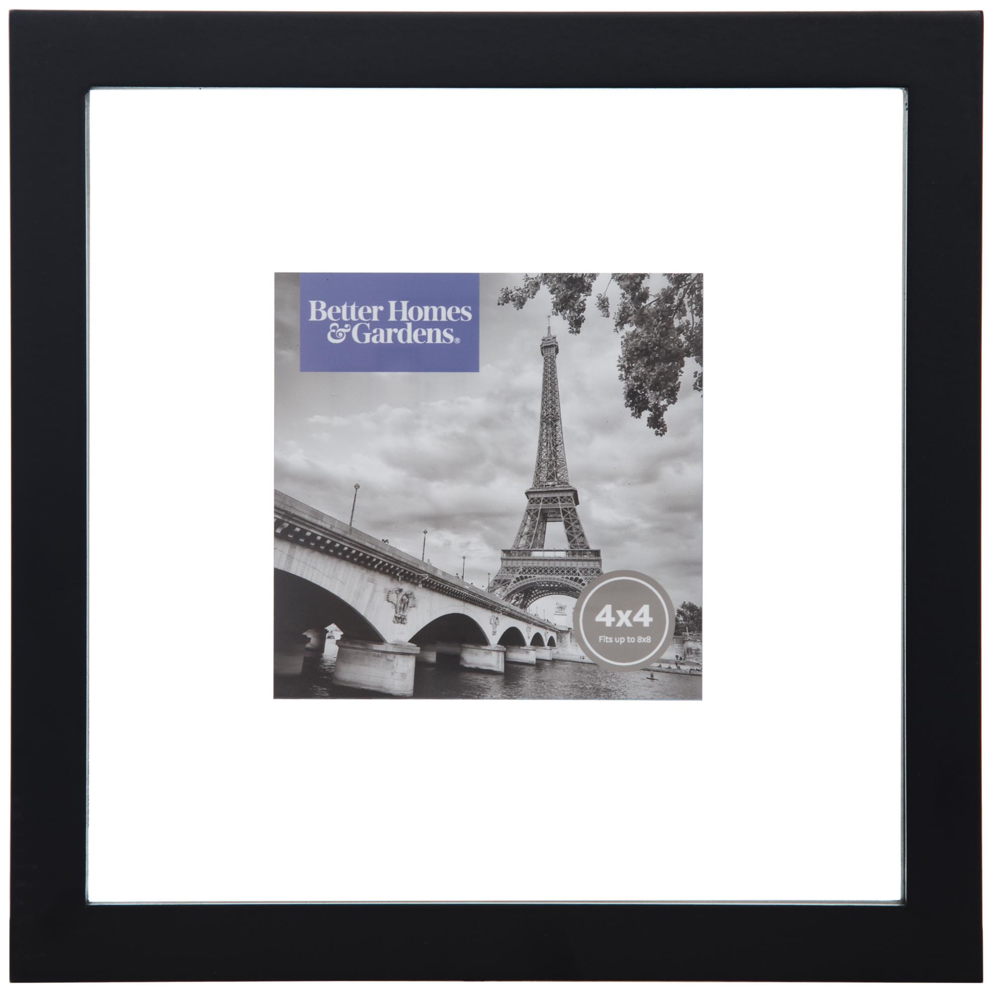 Better Homes & Gardens 8x8 Black Gallery Float Frame
