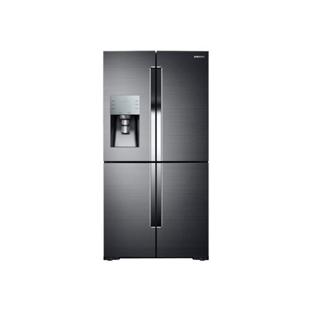 Samsung RF28K9070SG - Refrigerator/freezer - freestanding - width: 35.7 in - depth: 34.3 in - height: 71.7 in - 28.1 cu. ft - side-by-side with ice & water dispenser - black stainless steel