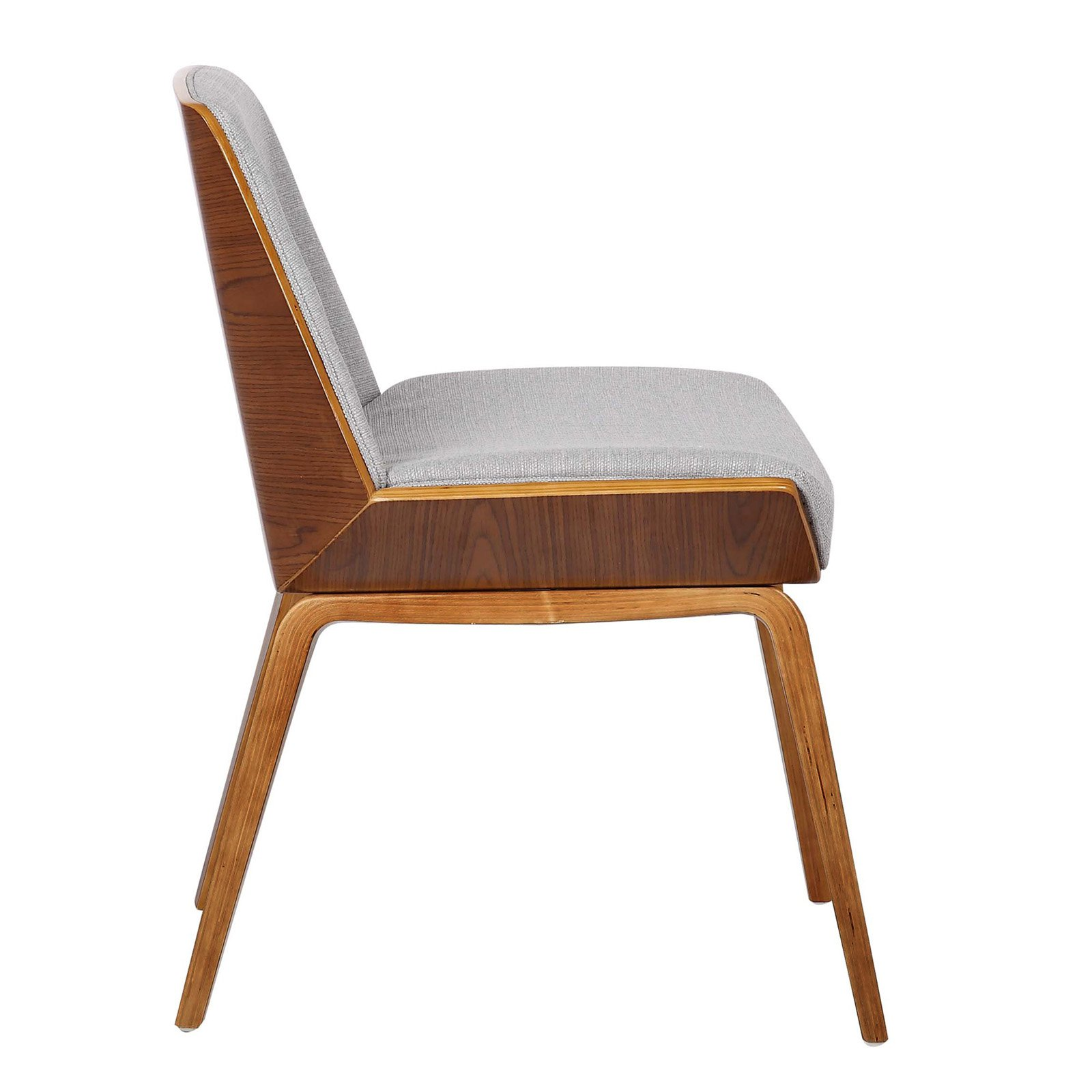 2561baa690cc9 Armen Living Agi Mid-Century Dining Chair in Walnut Wood and Fabric -  Walmart.com
