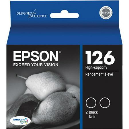Epson 126 Ink Cartridge - Black Epson DURABrite 126 High Capacity Ink Cartridge - Black - Inkjet - 370 Page - 2 / - 370 Ink