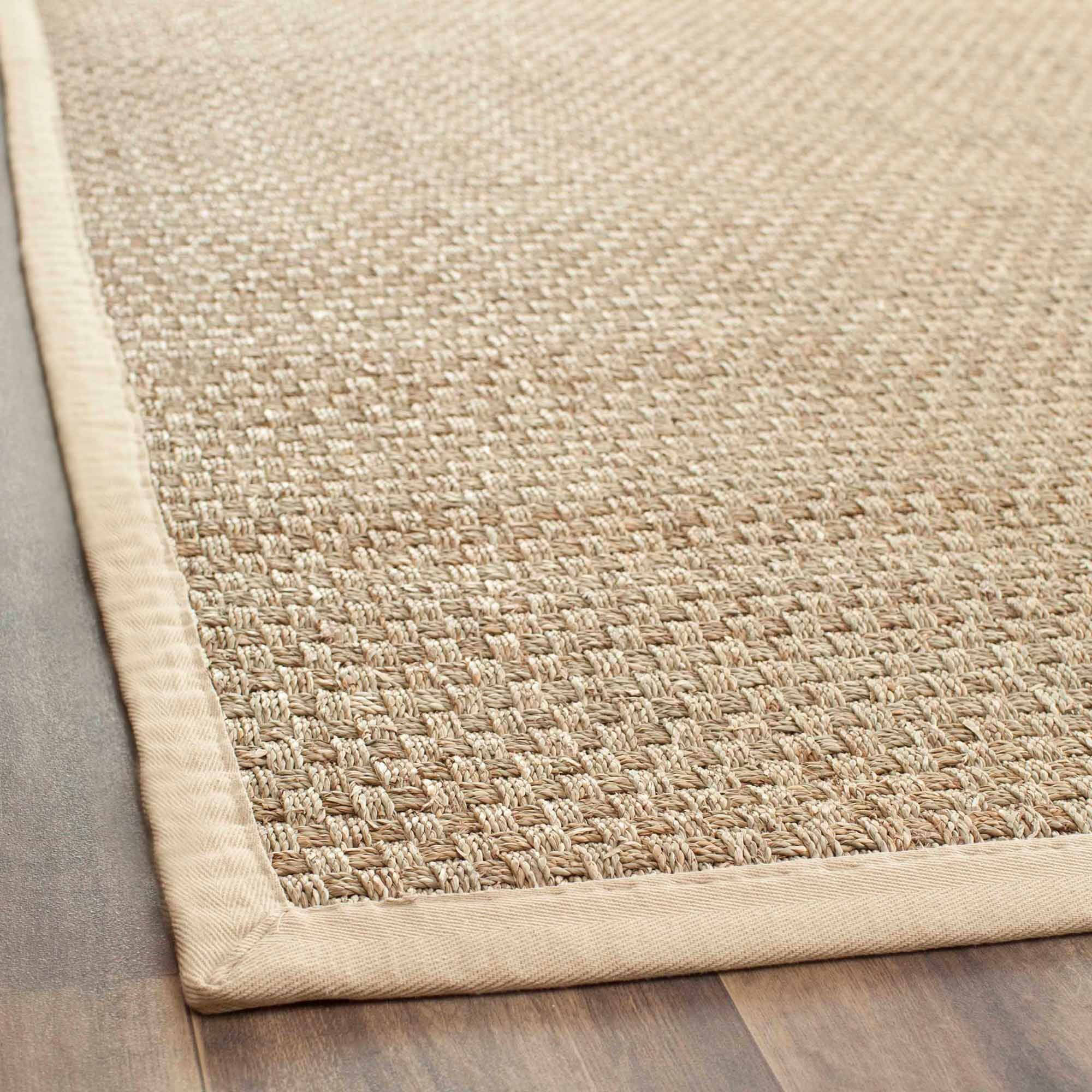 Safavieh Basket-Weave Seagrass Area Rug, Natural/Beige