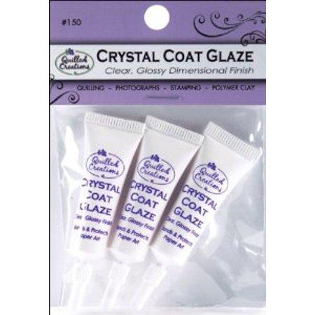 Quilling Crystal Coat Glaze  Gloss  3Pk