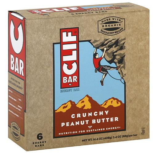 Clif Bar Crunchy Peanut Bar, 14.4 oz, 6ct (Pack of 6)