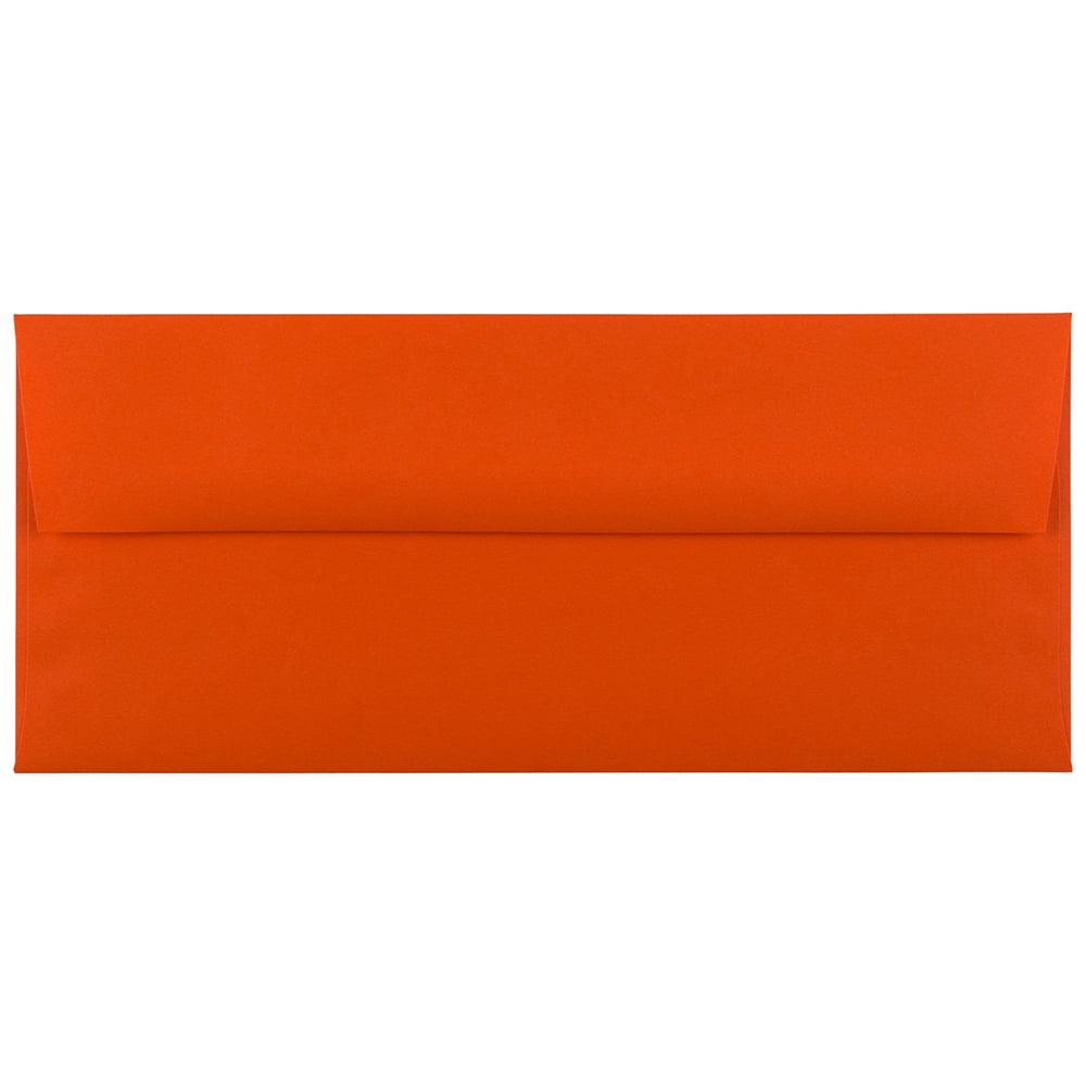 JAM PAPER #10 Business Premium Envelopes 50//Pack 4 1//8 x 9 1//2 Dark Orange