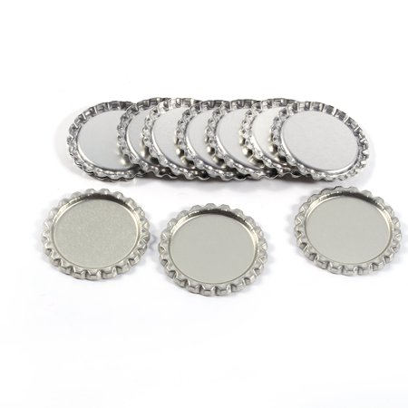Sonew 100pcs Flat 1  Silver Color Tinplate Bottle Caps Lids Cover without Hole, Bottle Cork, Seal - image 5 of 7