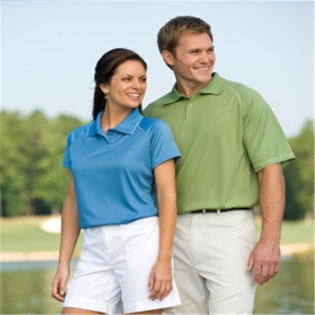 00820599180569 LADIES PERFORMANCE GOLF SHIRT 2701 MANGO RED M