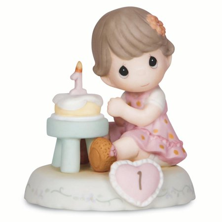 Precious Moments Growing Grace Age One Brunette Porcelain Figurine (Halloween Precious Moments Figurines)