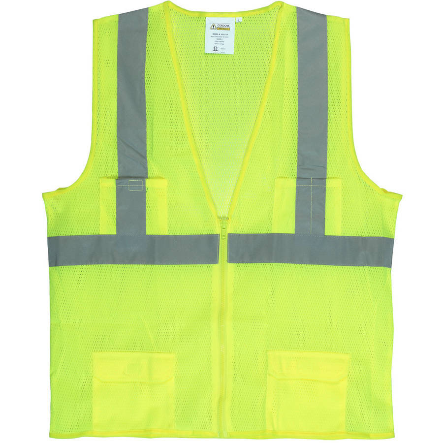 "Cordova Class II Lime Mesh Surveyor's Vest with 2"" Reflective Tape"