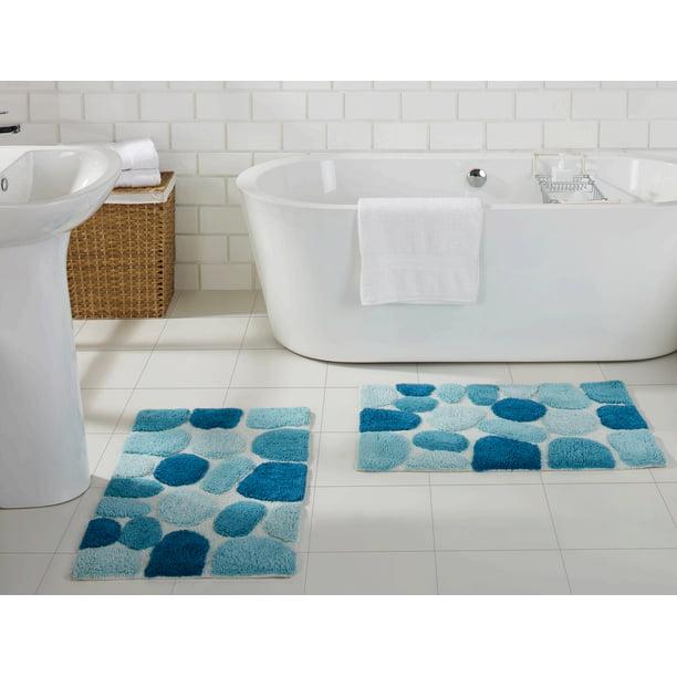 Chesapeake Pebbles 2 Pc Arctic Blue Bath Rug Set 20 X32 20 X32 Walmart Com Walmart Com