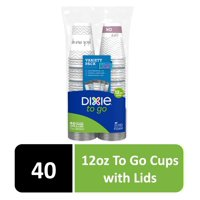 Dixie To Go Paper Hot Cups, 12 oz, 40 Count
