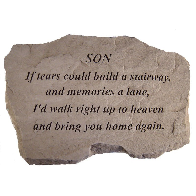 If Tears Could Build A Stairway Memorial Stone - Personalized Heading