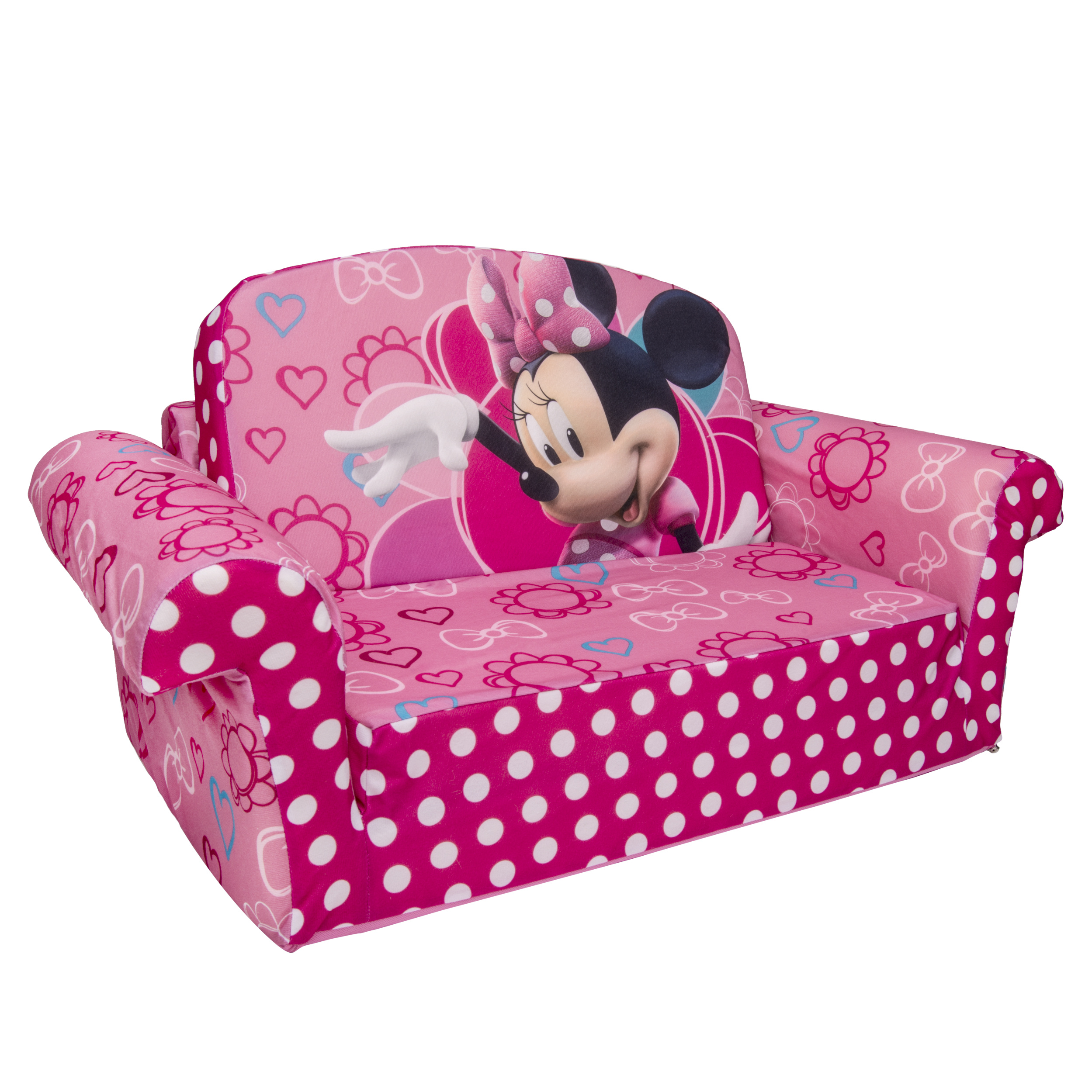 Disney Minnie Mouse, Toddler 2 in 1 Flip Open Foam Sofa Chair by Disney