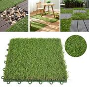 Spptty Artificial Grass 3cm Turf Plastic Grass Bottom Waterproof Grass Board Splice Board Lawn Artificial Rug Outdoor Lawn Mat
