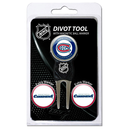 Team Golf NHL Montreal Canadiens Divot Tool Pack With 3 Golf Ball Markers