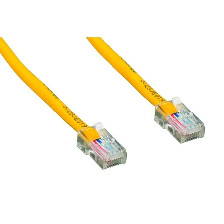 Cablelera 10' Category 5e UTP Network Patch Cable, Non-Booted Assembly, Yellow Color (ZNWN4460-10)