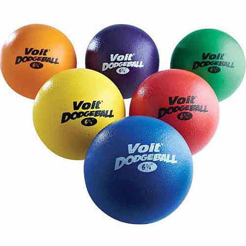 Voit® Tuff 6.25 in. Dodgeballls, 6-Pack