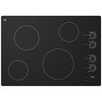 """Whirlpool W5CE3024XB 30"""" Black Electric Smoothtop Cooktop"""