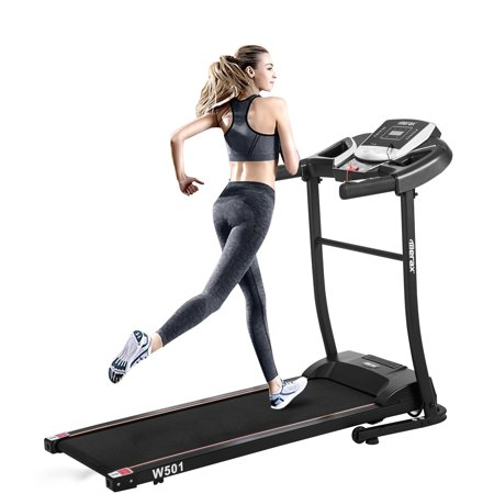 55''x23.6''x43.3'' Folding Exercise Treadmills for Home, Smart Digital Foldable Exercise Machine Treadmills, 16'' Wide Tread Belt, 12.8 KM/h Max Speed, Easy Assembly Motorized Running Machine, S10266