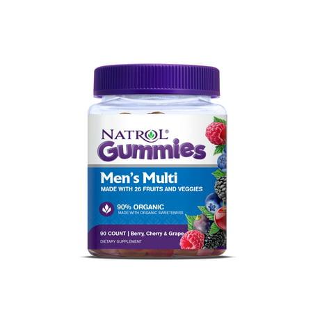 Natrol Men's Multi Gummies, Berry, Cherry & Grape flavors, 90 Count