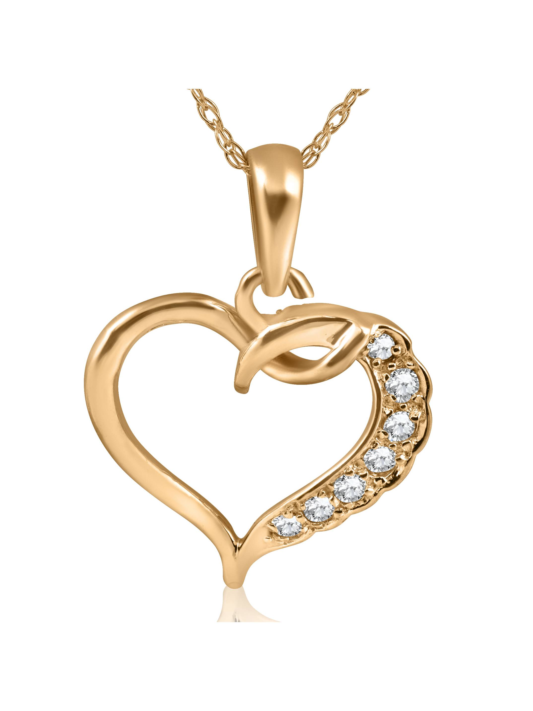 1 5ct Diamond Heart Pendant 14K Yellow Gold by Pompeii3