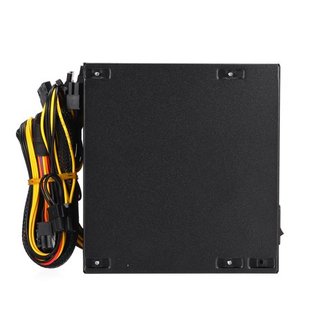 500W Computer Power Supply ATX 12V Gaming PSU Multicolor LED RGB Fan 24 Pin  - image 2 de 10