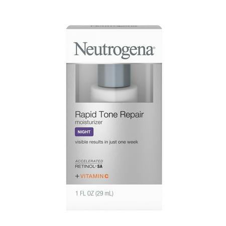 Neutrogena Rapid Tone Repair Face & Neck Cream with Retinol SA, Anti-Wrinkle, 1 fl oz