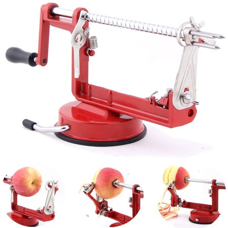 Zimtown 3 in 1 Apple Peeler Slinky Machine Peeler Corer Fruit Cutter Slicer Kitchen Tool Pear Fruit Easy Cut