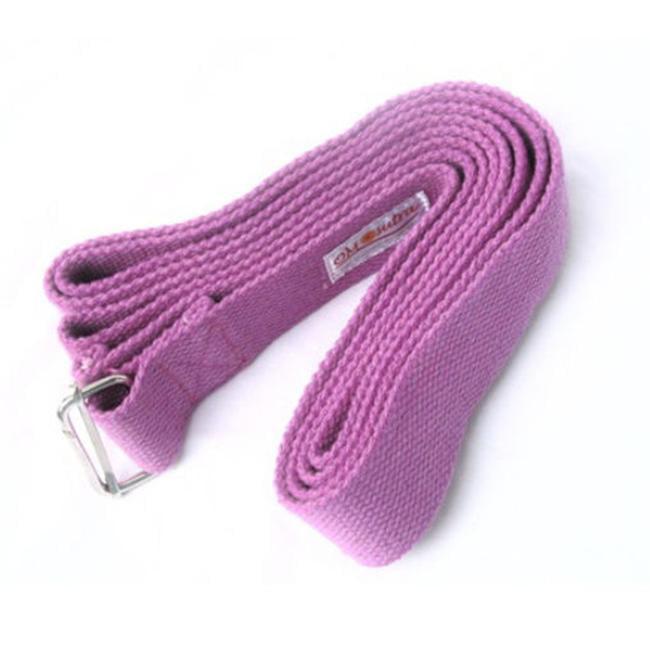 KushOasis OM132006-Magenta OMSutra Yoga Strap Cinch-Buckle 6 ft.  - Color - Magenta