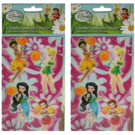 Disney Tinkerbell 4x6 Jumbo Lenticular Sticker 78950 (2 Pack) # 6387581-2pk