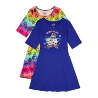 Deals on 2-Pack L.O.L. Surprise Girls 3/4 Sleeve Play Dress