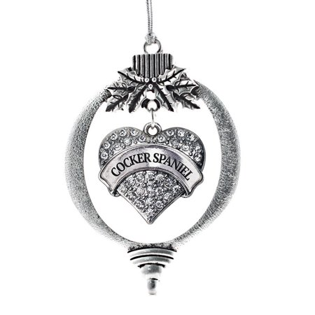 Cocker Spaniel Pave Heart Holiday Ornament
