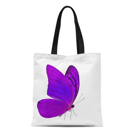 HATIART Canvas Tote Bag the Amazing Flying Purple Butterfly Orange Albatross Appias Nero Reusable Shoulder Grocery Shopping Bags Handbag - image 1 de 1