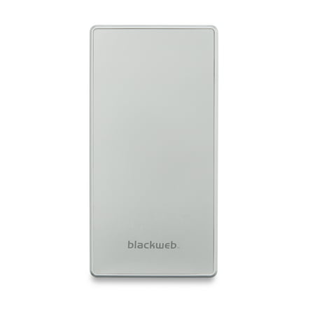 Blackweb Portable Battery With Led Readout, 10400 mAh, White