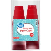 Great Value Plastic Party Cups, 18 oz, 50 Count