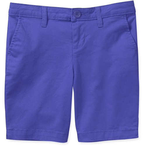 Faded Glory Girls' Colored Chino Bermuda Short