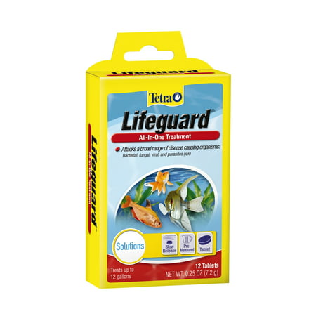 - Tetra LifeGuard All-In-One Freshwater Treatment Tablets, 12-count