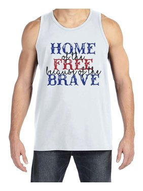 2dbe58e9ca423 Product Image Custom Party Shop Men s Home of the Free 4th of July White Tank  Top - Large