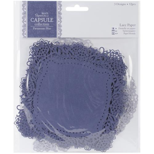"Papermania Parisienne Blue Die-Cut Lace Paper 5.5"" 12/Pkg"