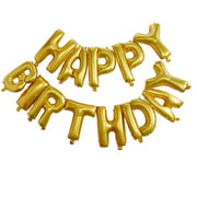 """16"""" Gold Happy Birthday Balloons Party Inflatable Banner Decorations Gifts"""