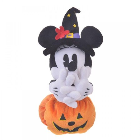 New Halloween Store (Disney Store Japan Minnie Halloween Pumpkin Reversible Plush New with)