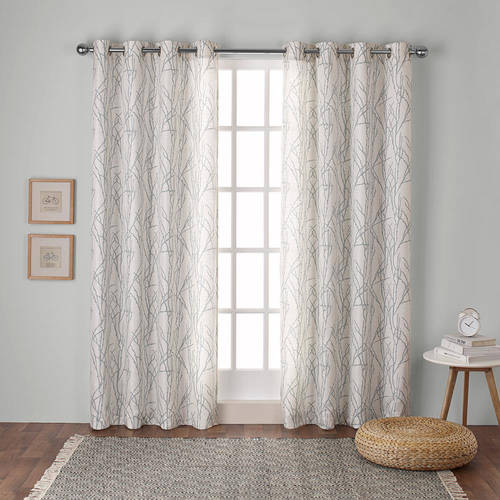 Exclusive Home Branches Linen Blend Grommet Top Window Curtain Panel Pair, Mecca Orange, 54x84 by Exclusive Home