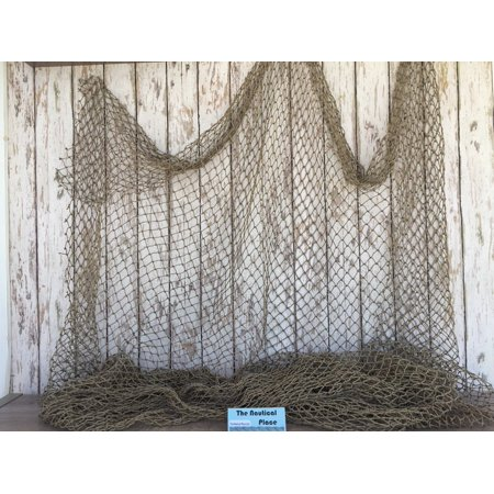 Authentic Used Fishing Net 5'x10' - Commercial Fish Netting - Old Vintage Decorative - Nautical Decor](Fish Netting)