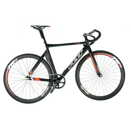 Felt TK2 Track Bike 56cm Matte Black Gloss Red White (Felt Bike)