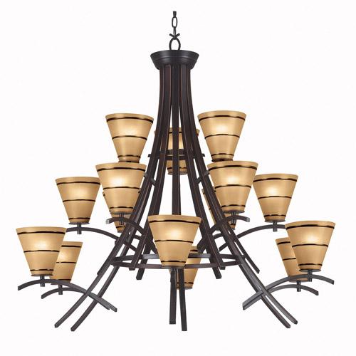 Kenroy Home Wright 15-Light Chandelier, Oil Rubbed Bronze
